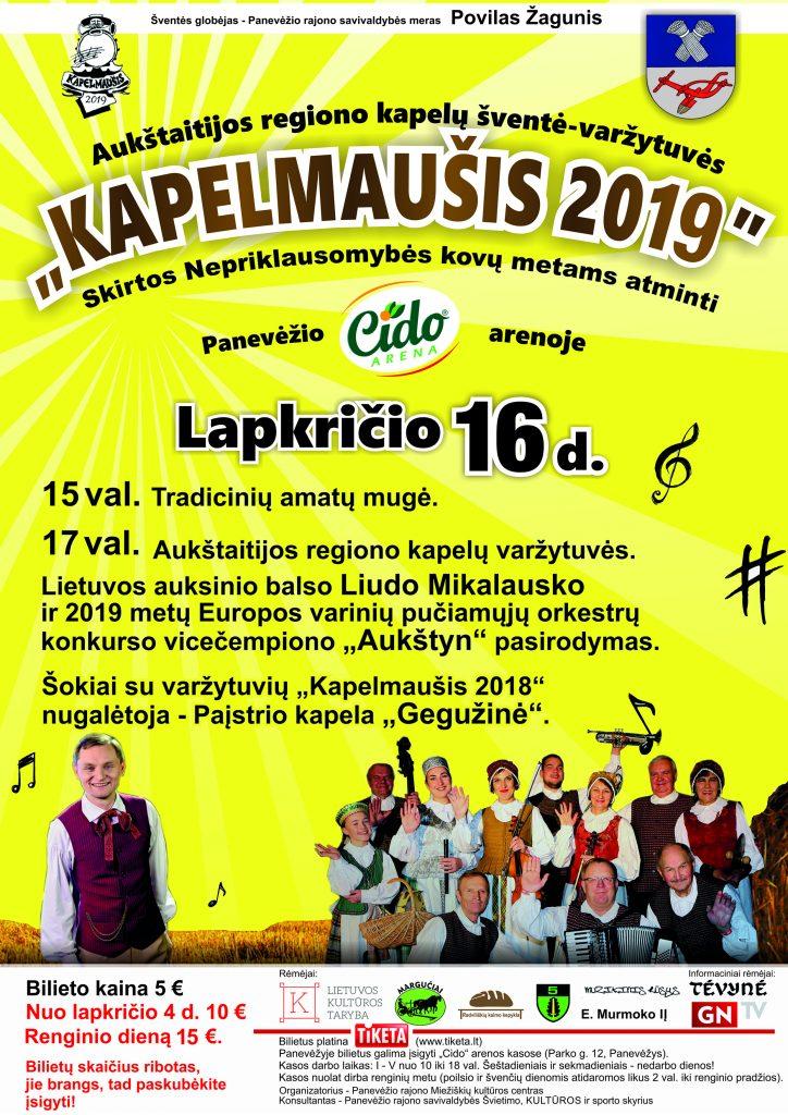 """Aukštaitijos regiono kapelų šventė- varžytuvės """"Kapelmaušis 2019"""" @ Panevėžio """"Cido"""" arena"""